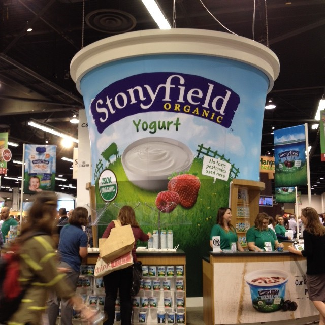 World's largest cup of yogurt? People have meetings inside!